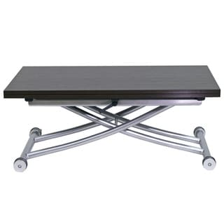 CO-2219 Espresso Finish Stainless Steel and MDF Transforming x Coffee and 4-seat Dining Table