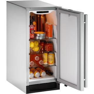 U-Line 1000 Series 1215 - 15 Inch Outdoor Stainless Steel Refrigerator