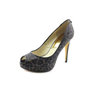 Michael Kors Women's York Platform Basic Textile Dress Shoes