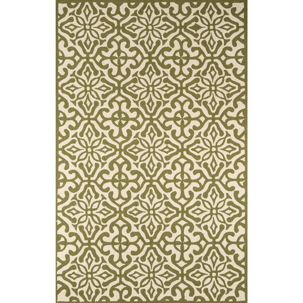 Momeni Veranda Green Talavera Tile Indoor/Outdoor Rug - 8' x 10'