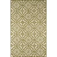 Momeni Veranda Green Talavera Tile Indoor/Outdoor Rug 5' X 8' - 5' x 8'