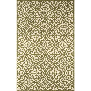 Momeni Veranda Green Talavera Tile Indoor/Outdoor Rug (3'9 X 5'9)