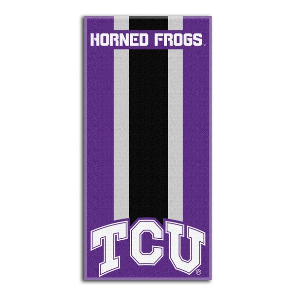 COL 620 TCU Zone Read Beach Towel