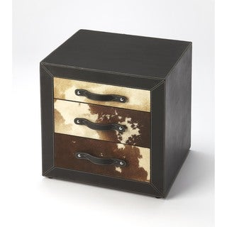 Butler Ella Leather and Hair-on-hide Side Table