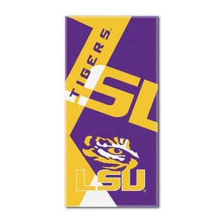 COL 622 LSU Puzzle Beach Towel