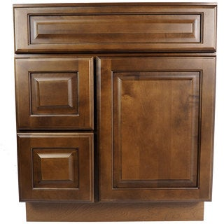 Everyday Cabinets 30-inch Dark Maple Juniper Chestnut Bathroom Vanity Cabinet
