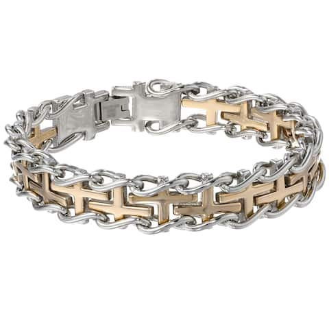 c9c9bd6fd21e2 Stainless Steel, Two-Tone Men's Bracelets | Shop Online at Overstock