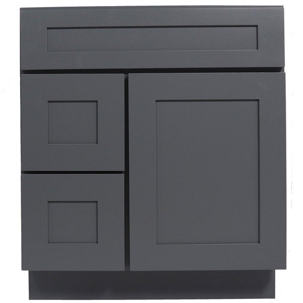 Everyday cabinets grey shaker 30 inch single sink bathroom - 30 inch single sink bathroom vanity ...