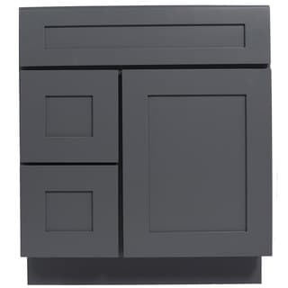 Everyday Cabinets Grey Shaker 30-inch Single Sink Bathroom Vanity Cabinet