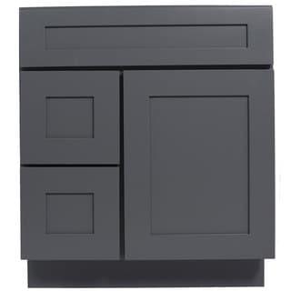Everyday Cabinets Grey Shaker 30-inch Single Sink Bathroom Vanity Cabinet
