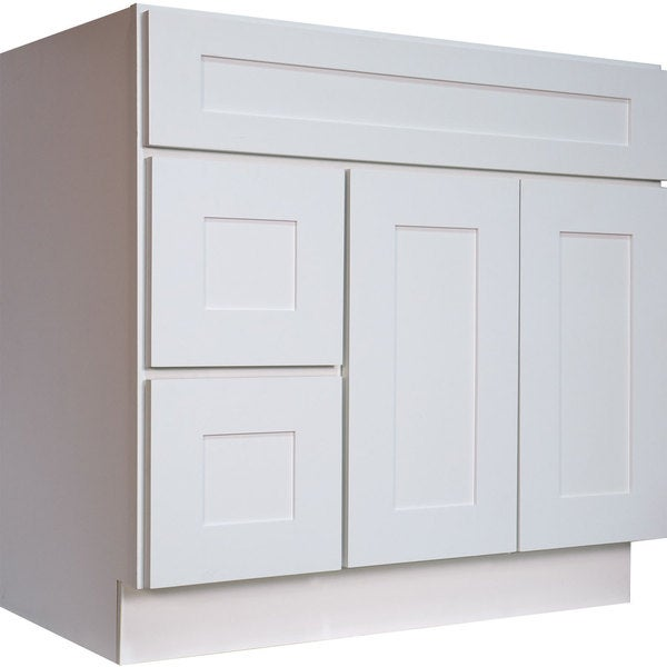cabinets white shaker 36 inch single sink bathroom vanity cabinet
