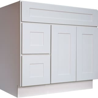 everyday cabinets white shaker 36inch single sink bathroom vanity cabinet
