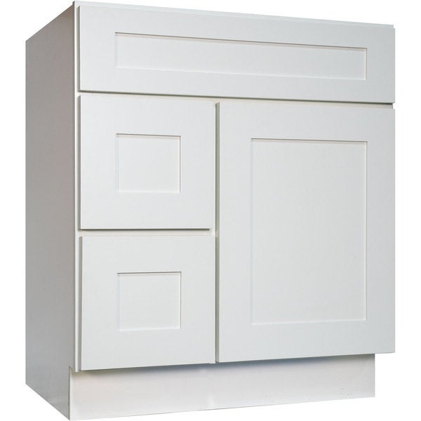 Delicieux Everyday Cabinets White Shaker 30 Inch Single Sink Bathroom Vanity Cabinet