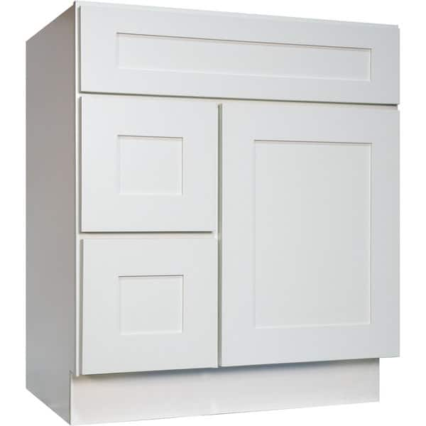 Everyday Cabinets White Shaker 30 Inch Single Sink
