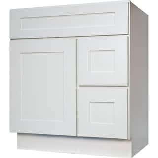 everyday cabinets shaker white wood 30 inch single sink bathroom vanity cabinethttps