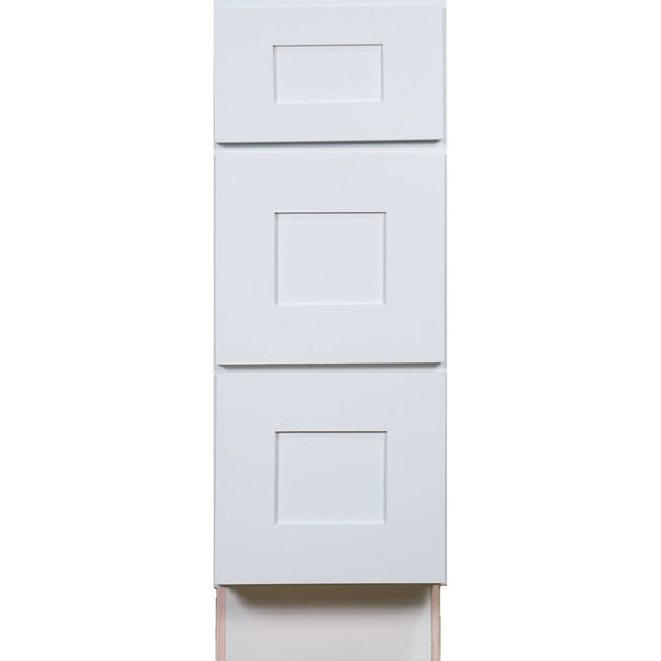 Everyday Cabinets White Shaker 12 Inch Bathroom Vanity Drawer Base Cabinet    Free Shipping Today   Overstock.com   18936881