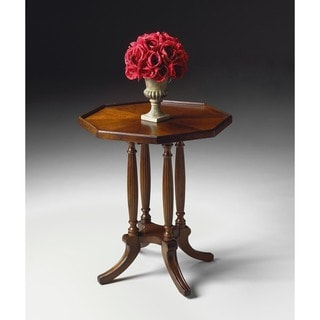 Butler Adolphus 5015024 Plantation Cherry Varnished Resin MDF Wood Octagonal Accent Table
