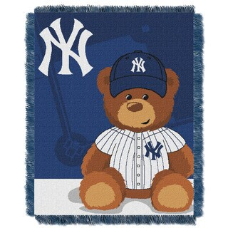 MLB 044 Yankees Field Bear Baby Throw