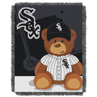 MLB 044 White Sox Field Bear Baby Throw