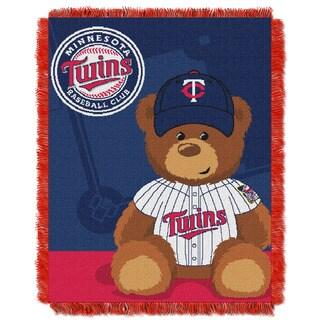 MLB 044 Twins Field Bear Baby Throw