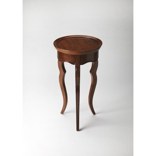 Butler Sophia 5007101 Olive Ash Burl Wood and Resin Round Accent Table