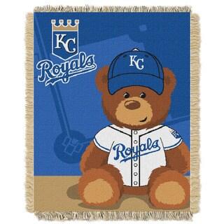 MLB 044 Royals Field Bear Baby Throw