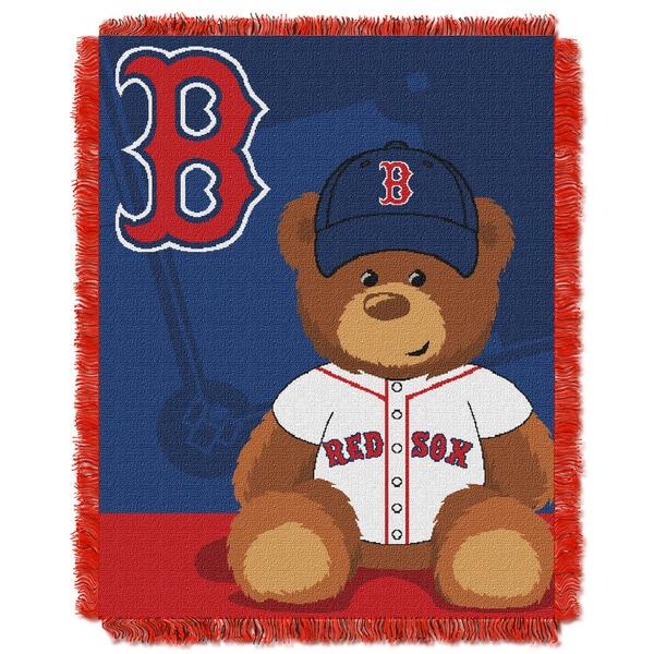 MLB 044 Red Sox Field Bear Baby Throw
