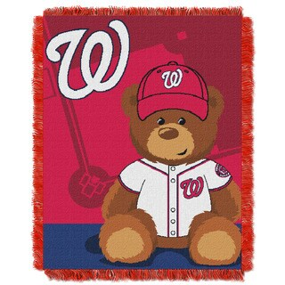 MLB 044 Nationals Field Bear Baby Throw