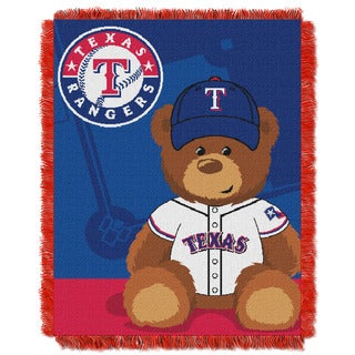 MLB 044 Rangers Field Bear Baby Throw