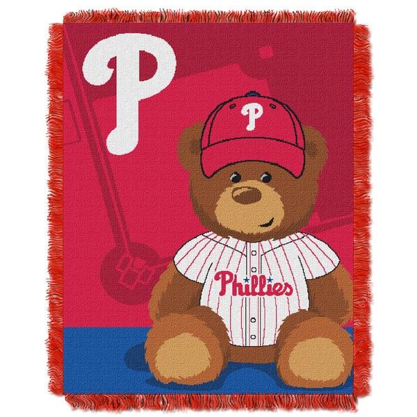 MLB 044 Phillies Field Bear Baby Throw
