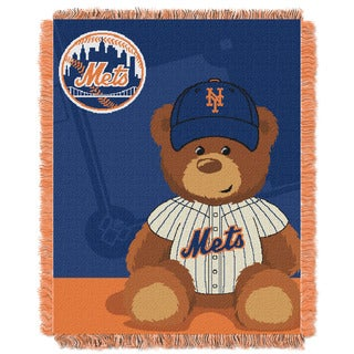 MLB 044 Mets Field Bear Baby Throw