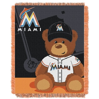 MLB 044 Marlins Field Bear Baby Throw