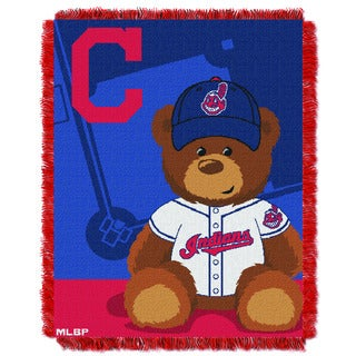MLB 044 Indians Field Bear Baby Throw