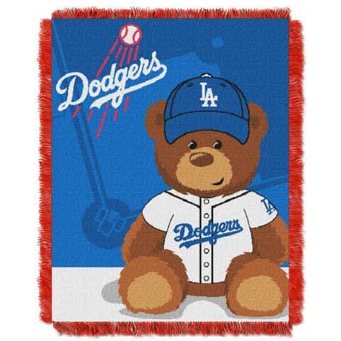 MLB 044 Dodgers Field Bear Baby Throw