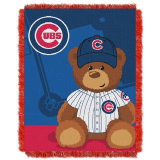MLB 044 Cubs Field Bear Baby Throw