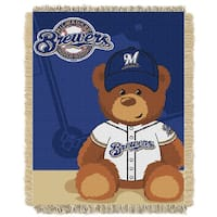 MLB 044 Brewers Field Bear Baby Throw