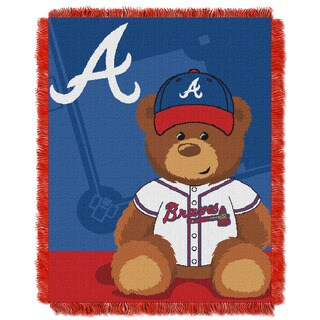 MLB 044 Braves Field Bear Baby Throw