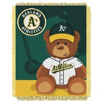 MLB 044 Athletics Field Bear Baby Throw