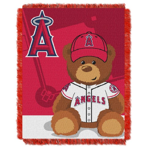 MLB 044 Angels Field Bear Baby Throw