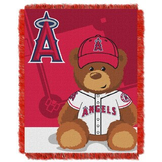 MLB 044 Angels Field Bear Baby Throw