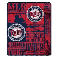 MLB 031 Twins Strength Fleece Throw