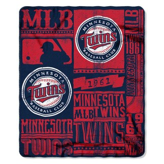MLB 031 Twins Strength Fleece Throw