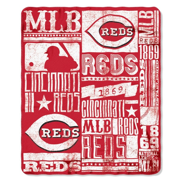 MLB 031 Reds Strength Fleece Throw