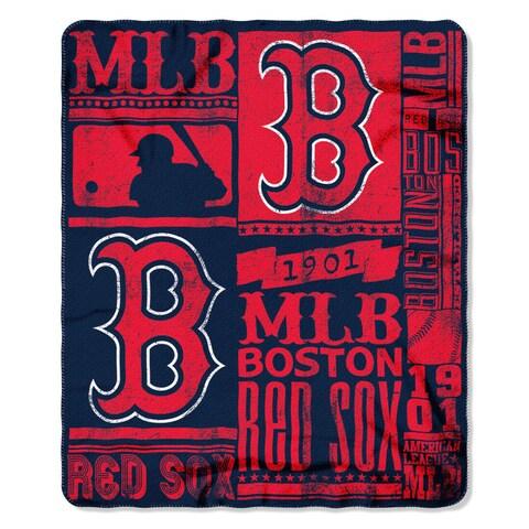 MLB 031 Red Sox Strength Fleece Throw