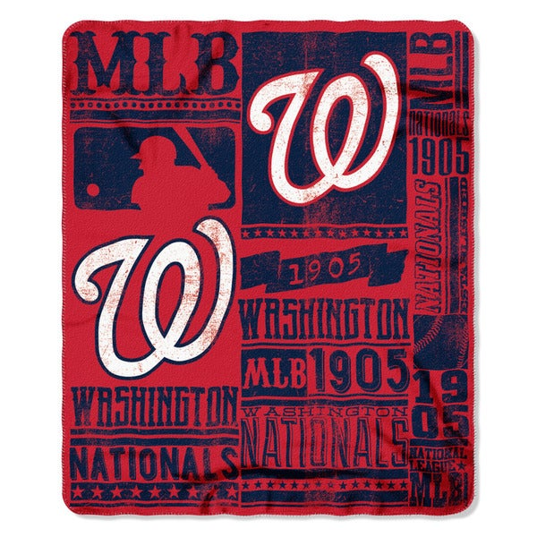 MLB 031 Nationals Strength Fleece Throw