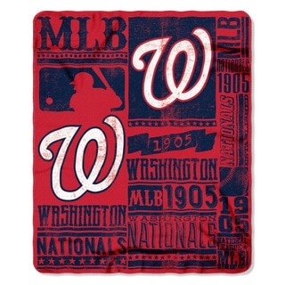 MLB 031 Nationals Strength Fleece Throw