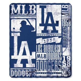 MLB 031 Dodgers Strength Fleece Throw