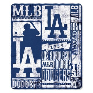 MLB 031 Dodgers Strength Fleece Throw