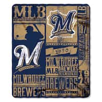MLB 031 Brewers Strength Fleece Throw