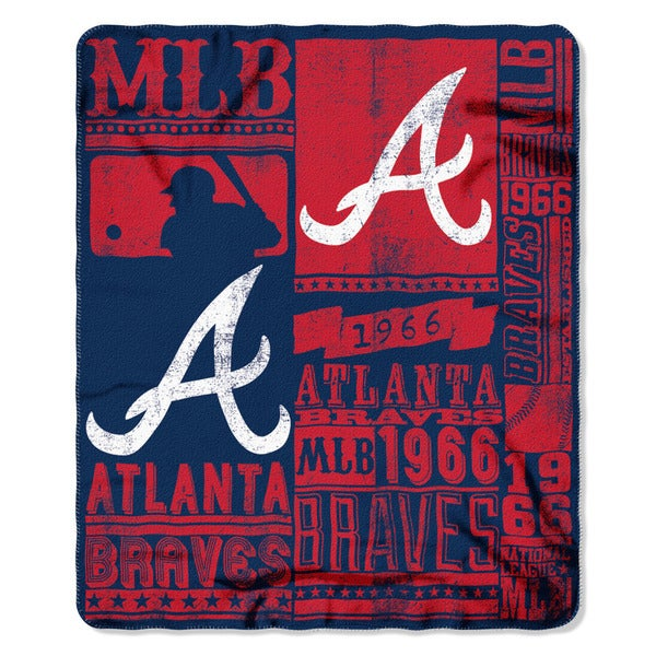 MLB 031 Braves Strength Fleece Throw